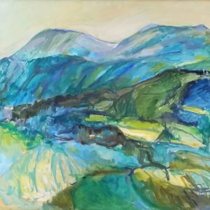 Eresfjord 2. 62 x 72 cm. Olje på lerret. Med ramme.